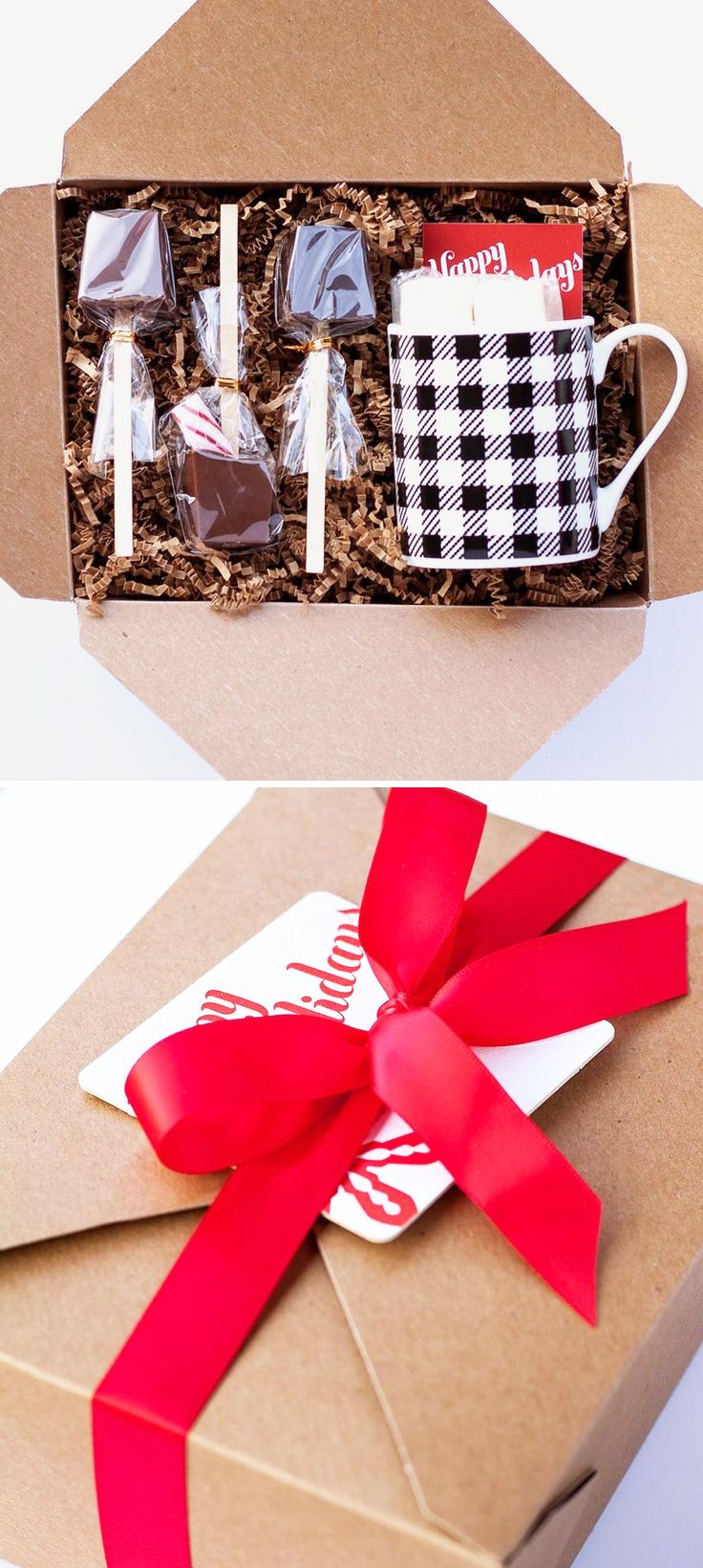 Gift Idea!!! Plaid Mug, Hot Cocoa Sticks, Greeting Card, and any other goodies they would like!