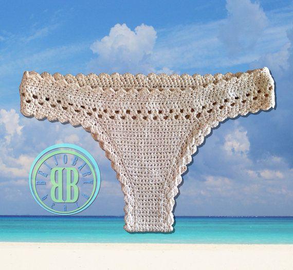 beijo classic custom crochet bikini bottom por beijobaby en Etsy