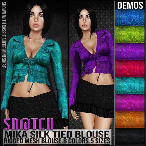 Sn@tch Mika Silk Blouse Vendor Ad LG | Flickr - Photo Sharing!
