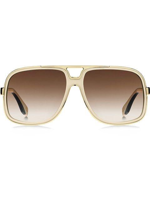 9e39cbfb28 Shop Marc Jacobs Eyewear oversized aviator sunglasses