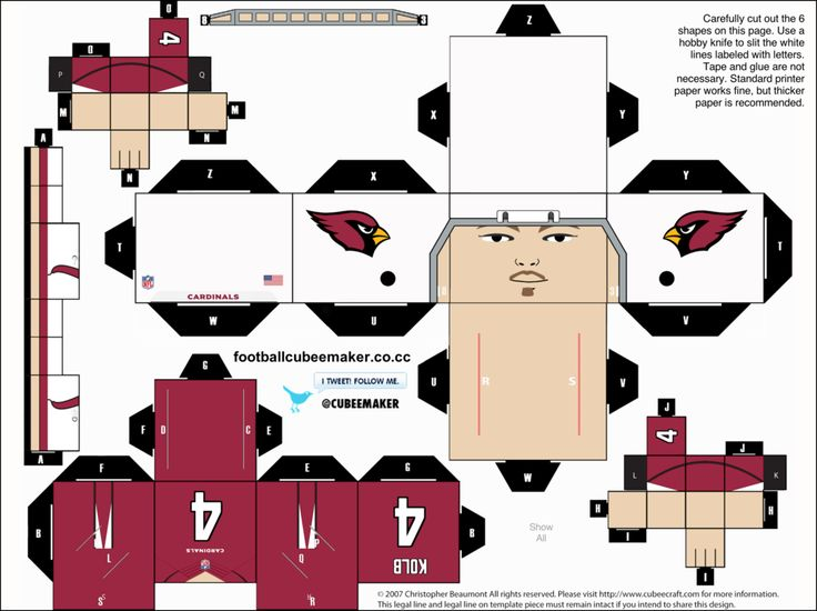Kevin Kolb Cardinals Cubee by etchings13 on DeviantArt