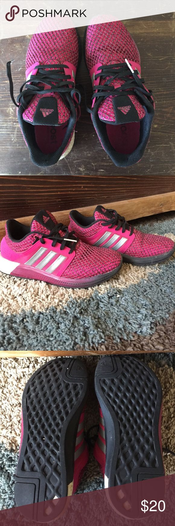 Women's Adidas Boost Shoes Used but still in good shape. I apologize I cannot recall the name of this shoe but it does have to Boost sole and is super comfortable. Adidas Shoes Athletic Shoes