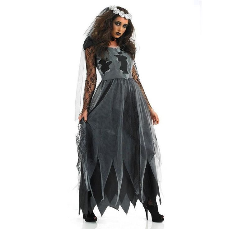 Hot sale Ghost Bride Sexy Cosplay Halloween Costume Zombie Dress Female Devil Cosplay for Adults