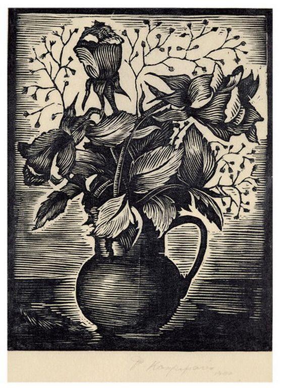 .:. Καχριμάνη Φωφώ – Fofo Kachrimani [1912-1972] Λουλούδια, 1940