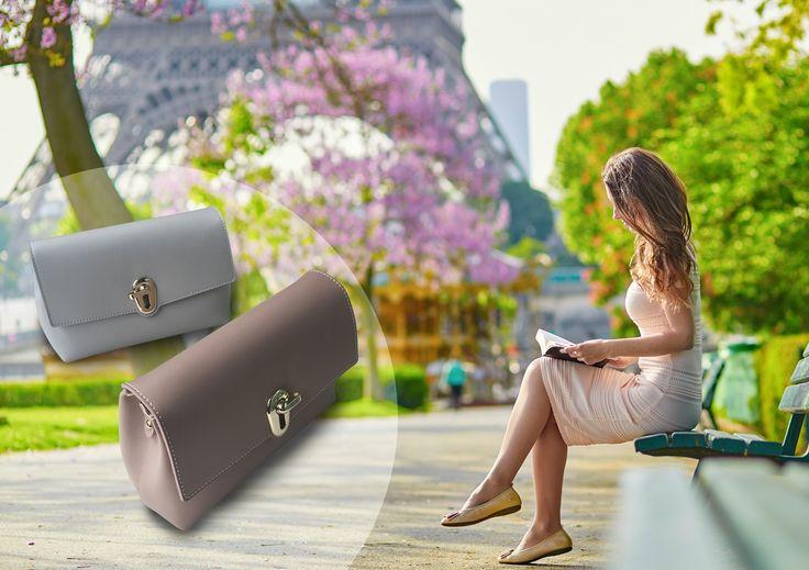 Spring in Paris.  #maudfrizon #spring #paris #SS17 #parisian #chic #fashion #accessories #handbag #fashioninspiration #soft #pastel #nomondayblue