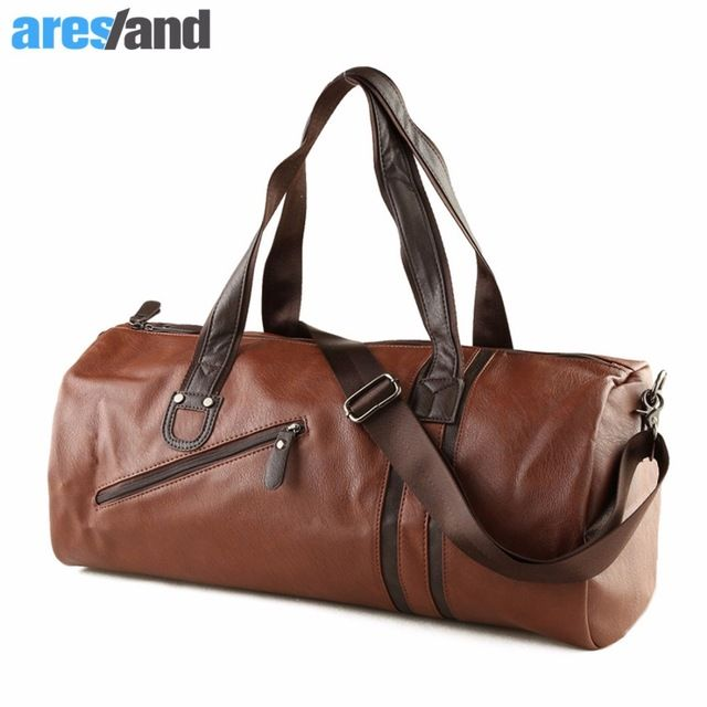 Check lastest price Large Capacity Outdoor Men's Sports Bag PU Leather Tote Duffel Bag Multifunction Portable Travel Sports Gym Fitness Bag just only $23.93 with free shipping worldwide  #sportsbags Plese click on picture to see our special price for you