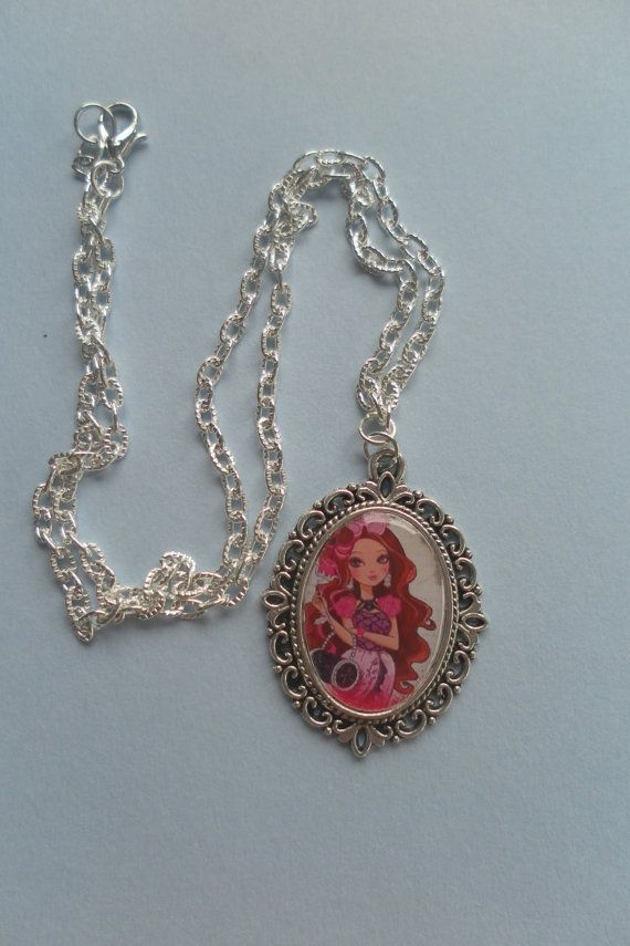 Ever After High Briar Beauty necklace cameo pendant by CameoCastle