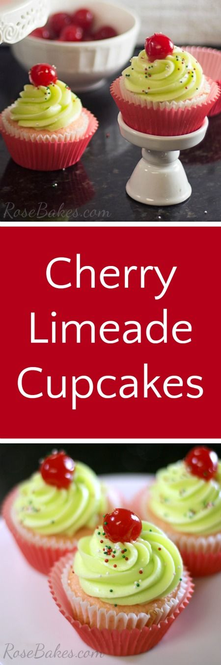 Cherry Limeade Cupcakes #ad #BrighTENtheSeason