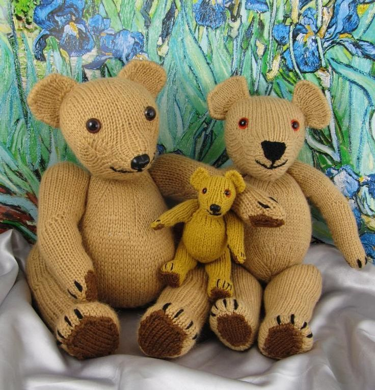 Classic Vintage Style Teddy Bear Family by madmonkeyknits - Craftsy