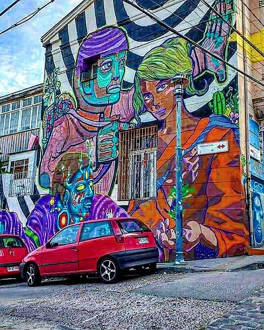 Grafitty en valparaiso