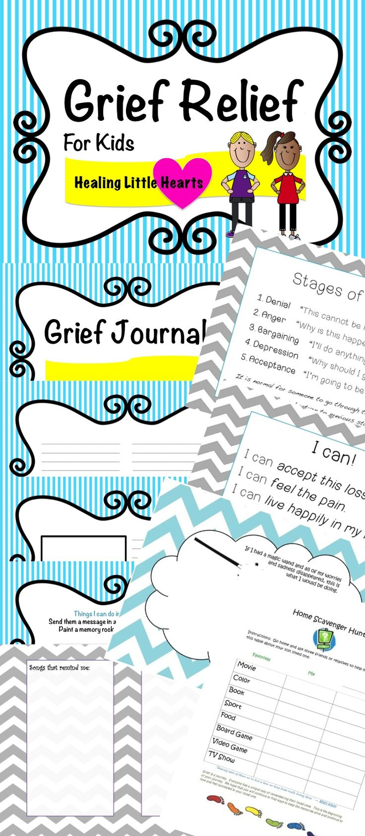 Grief Relief Jumbo Bundle for Students experiencing Grief and Loss