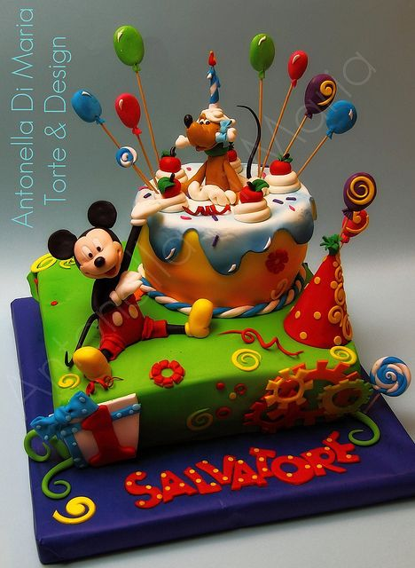 Cake Decorating Company Coupon : Mickey Cake by Antonella Di Maria Children & Character ...