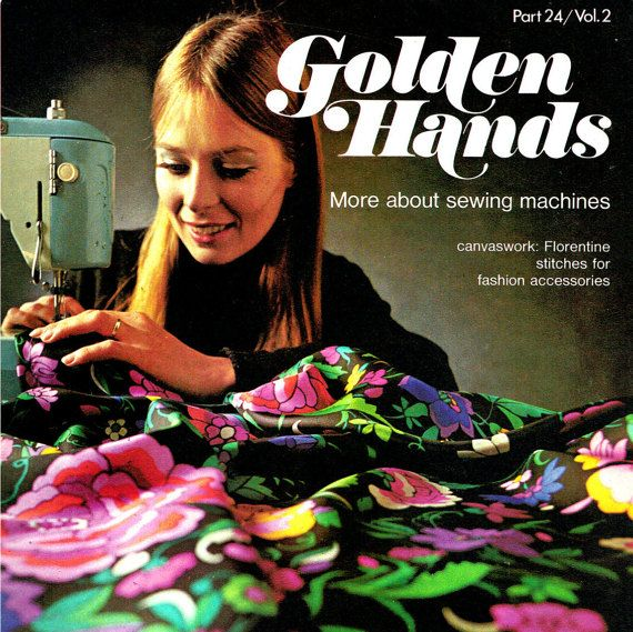 Vintage 1970s Golden Hands 24 Craft Magazine, Sew, Knit, Crochet, Bargello, Dress Making, Canvas Work, Embroidery, Kids Crafts  & more...