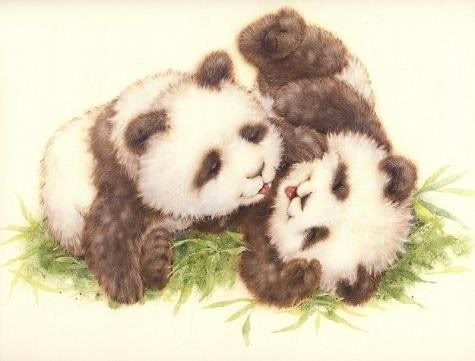 baby pandas-Cute artwork.