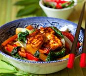 Thai Vegetable Stir-Fry | making this tonight (without tofu) - heave everything in the cupboard/counter/garden