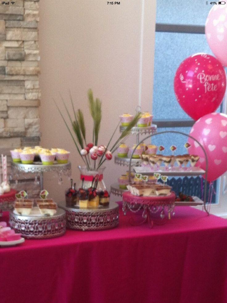 Candy bar -strawberry shortcake theme - cupcakes -cakepops _tiramisu