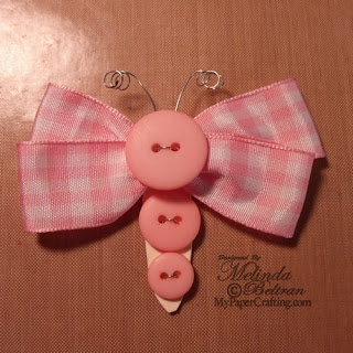 Cute hair bow! Or it would look cute on a card.