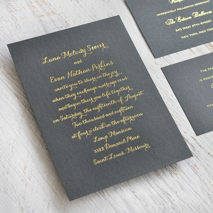 Simply Stunning Foil Invitation 887 best