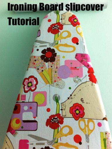 Ironing Board Slipcover Tutorial ~ Woohoo! Excellent tutorial.