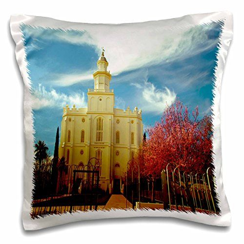 Jos Fauxtographee Realistic - The St. George LDS Temple in Utah Edited in an Older Looking Color Palette with Vivid Reds and Blue - 16x16 inch Pillow Case (pc_47504_1) 3dRose http://www.amazon.com/dp/B017C8TAU8/ref=cm_sw_r_pi_dp_PLE5wb1WRERH0