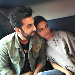 Deepika Padukone and Ranbir Kapoor get on a train for #Tamasha. promotions.