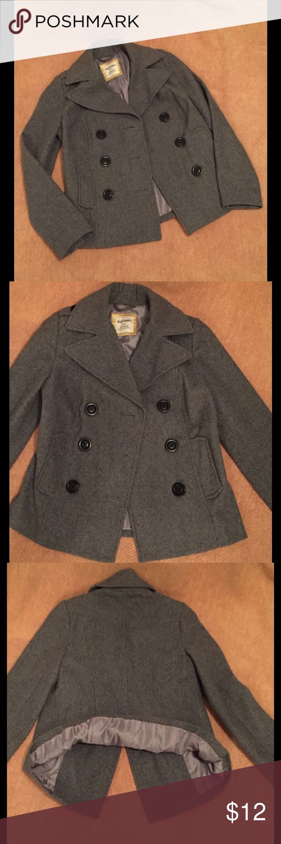 NWOT XS Gray Old Navy Pea Coat NWOT XS Gray Old Navy Pea Coat. Never Worn. Will easily fit a Size Small. New Condition. From a non-smoking and pet free home. BUNDLE2SAVE Old Navy Jackets & Coats Pea Coats