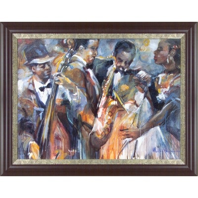 "New Century Picture All About Jazz II Wall Art - 38"" x 48"""