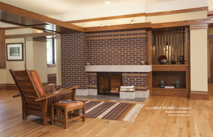 Best 25 prairie style homes ideas on pinterest prairie for Prairie style fireplace