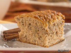 Cinnamon Banana Cake - A sweet homemade cake that's also #lowfat