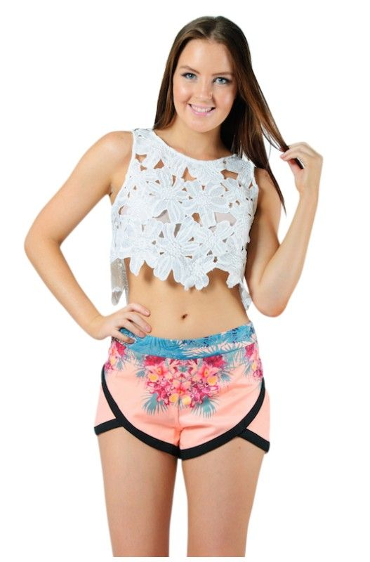 """""""Daisy Delight"""" Crop Top- 50% Discount! Super cute daisy print! Cropped style!  Shop Now only at A$20.00."""