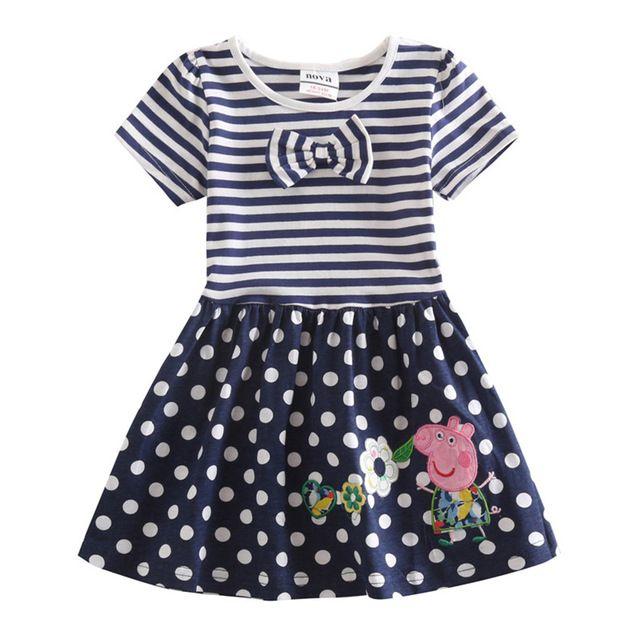 NOVA niños ropa de bebé niñas vestidos de rayas niños vestido de verano de diseño de moda venta caliente childen vestido para niños chicas