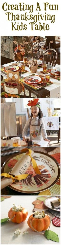 How to decorate and create a fun kids table for your Thanksgiving dinner