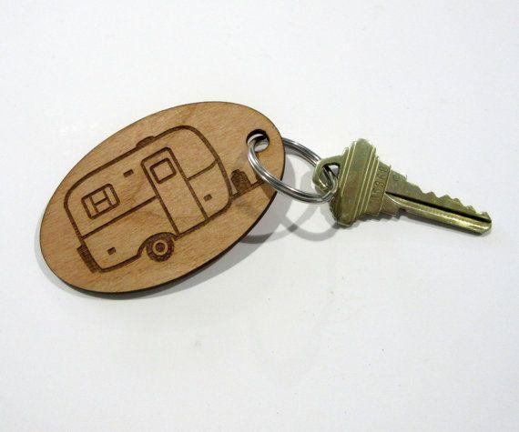 Scamp Camper Key Fob, Casita Trailer, Burro Camper, Boler Camper, Egg Camper, Camper Keyring, Trailer Key Fob, Camping Gift, Camper Decor