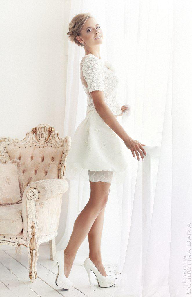 Свадебное платье короткое напрокат в москве