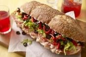 TAILGATE TURKEY PILE ON: The ultimate sandwich for tailgating  #turkey #TailgatingRecipes