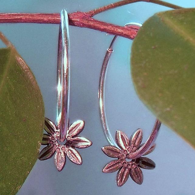 Sunflower Silver Earrings