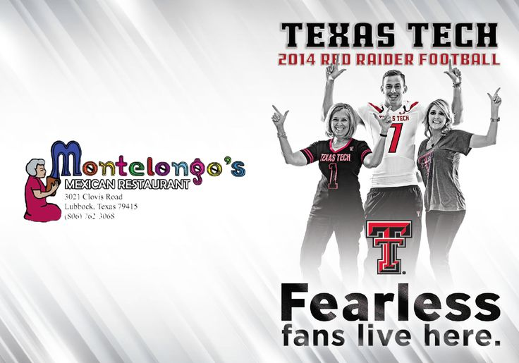 Texas Tech Football Schedule Card (2014)