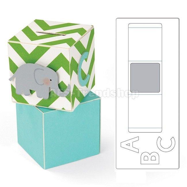 Sizzix ScoreBoards XL Stanzschablone Block/Cube/Bank, 3-D Würfel