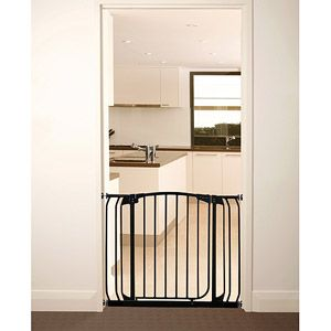 Smaller Version of Same - maybe for other doorways? Dream Baby - Swing Close Security Gate, Black