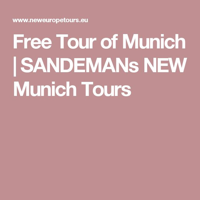 Free Tour of Munich | SANDEMANs NEW Munich Tours