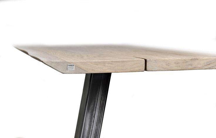 Planke sofabord i hvidolieret egetræ