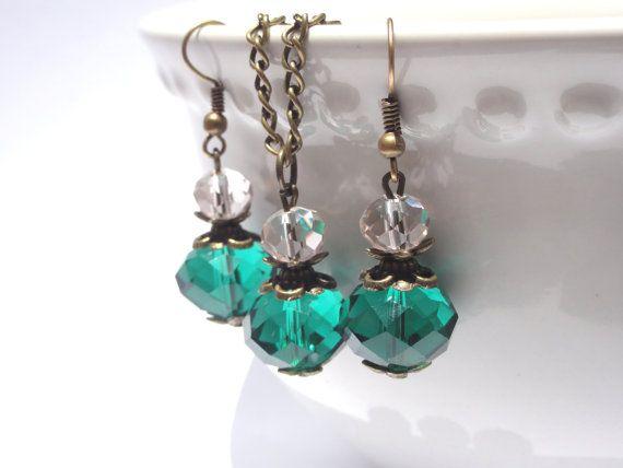 Crystal Jewelry set.. Bridesmaid by StunningGemsJewelry on Etsy