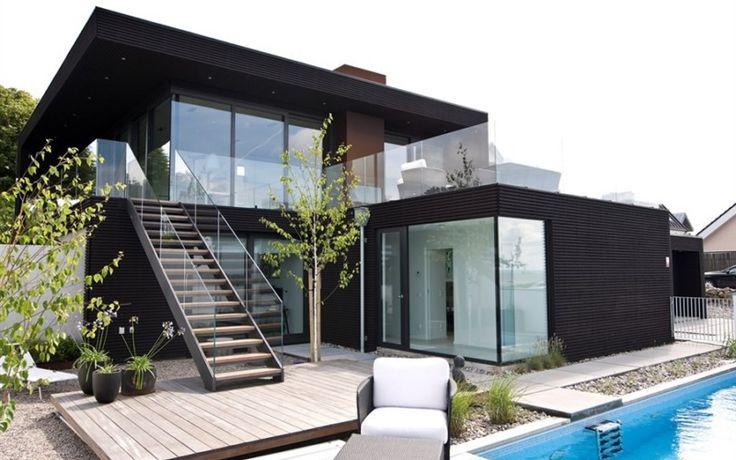 Moderne Hütte in Schweden