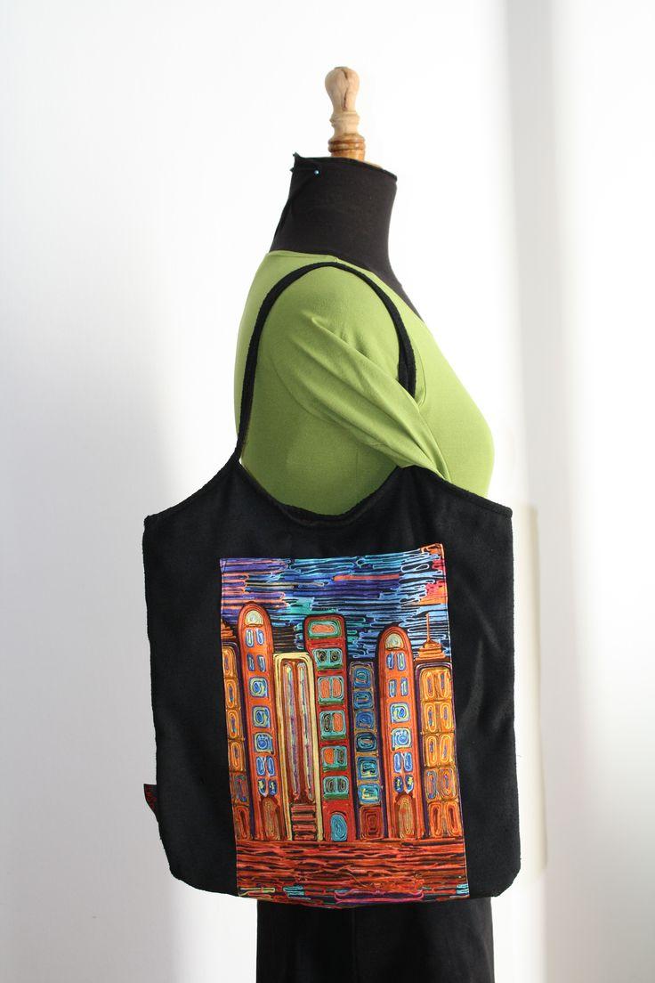 Bolso con el estampado City #bag #instintoBcn #DesignInBarcelona