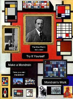 Piet Mondrian-use the computer to try making art then do the real thing at home