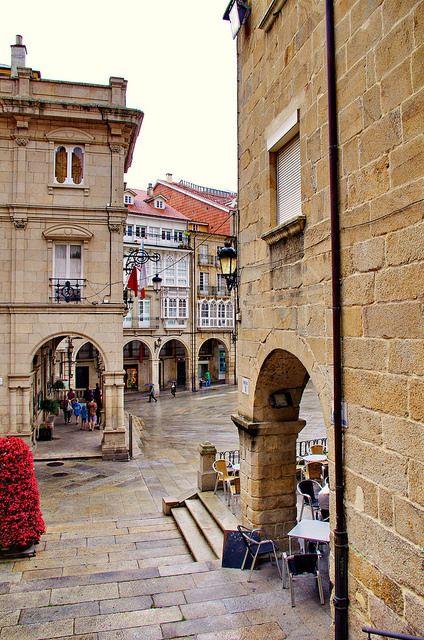Ourense España, Los Calle de Los Vinos (las Calles del Vino, una zona con muchos restaurantes antiguos)