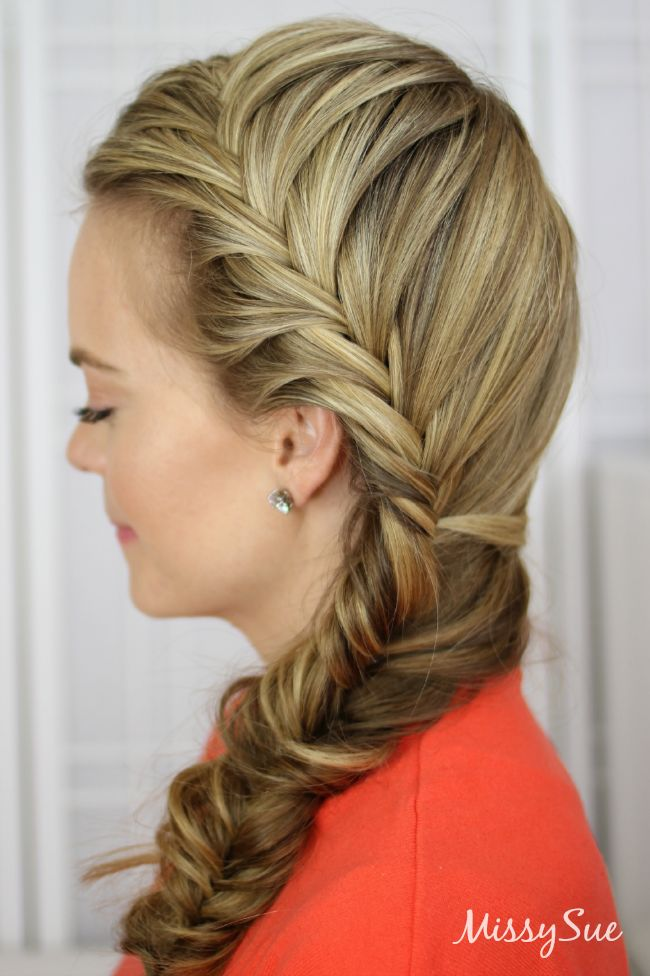 Fishtail French Braid Hairstyles Pinterest French Braid