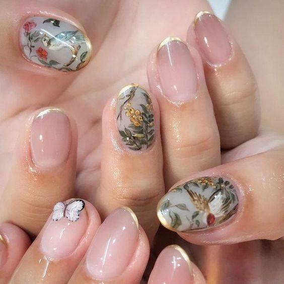 Inspiring Ideas for Oval Nail Art – #Inspirational #NAIL ART IDEA #ovale – Nail Art  – Frisur Ideen