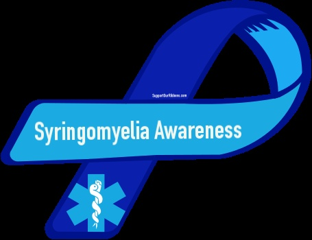 Custom Ribbon: Syringomyelia Awareness. I just had surgery for this.  It's when spinal fluid builds up in your spinal canal and puts pressure on your spine and nerves.  Not a fun surgery