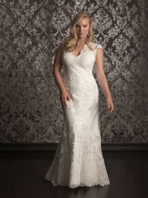Plus Size Wedding Dresses Boise Idaho : Slimline plus size dress by allure bridals style w